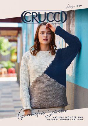 Crucci Knitting Pattern 1829 Natural Wonder Geometric Sweater