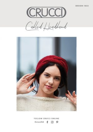 Crucci Knitting Pattern 1833 Artisan Cabled Headband