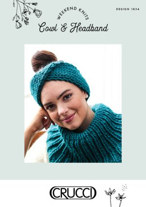 Crucci Knitting Pattern 1834 Cowl and Headband