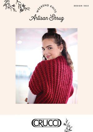 Crucci Knitting Pattern 1835 Artisan Shrug