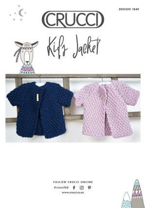 Crucci Knitting Pattern 1840 Kids Jacket