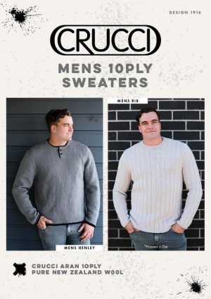 Crucci Knitting Pattern 1916 Mens 10ply Sweaters