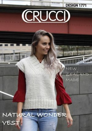 Crucci Knitting Pattern 1771 Natural Wonder Vest