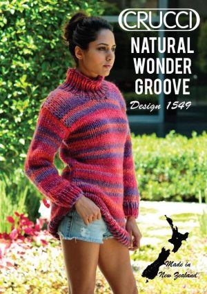 Crucci Pattern 1549 Groove Thigh Length Jumper
