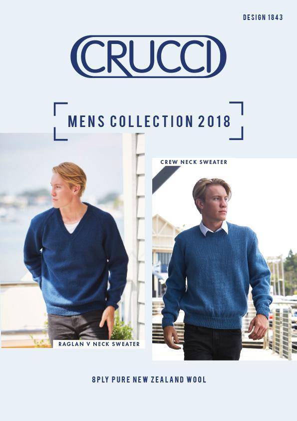 Crucci Knitting Pattern 1843 Men's Sweater 8ply