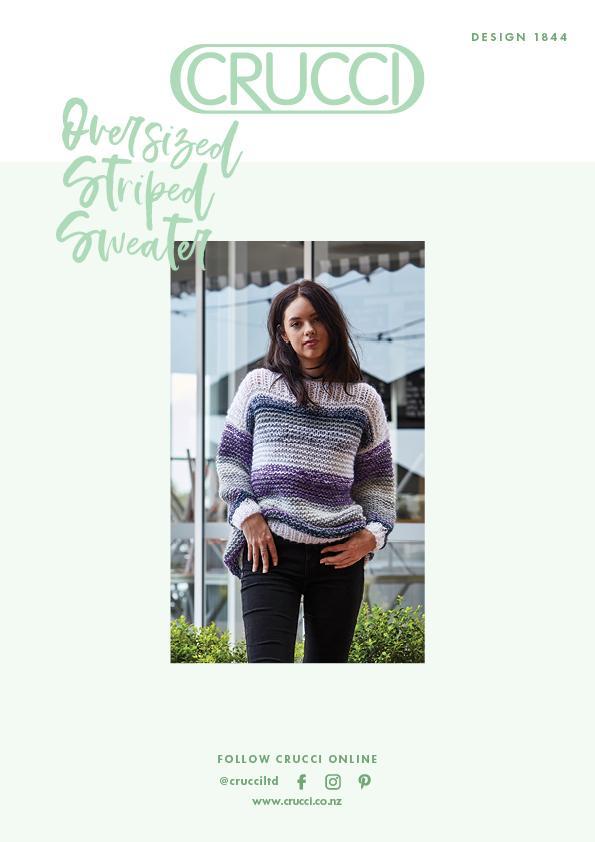 Crucci Knitting Pattern 1844 Oversized Striped Sweater