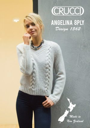 Crucci Pattern 1562 8 Ply Cabled Sweater