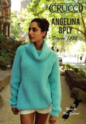 Crucci Pattern 1552 Angelina Wide Neck Jumper