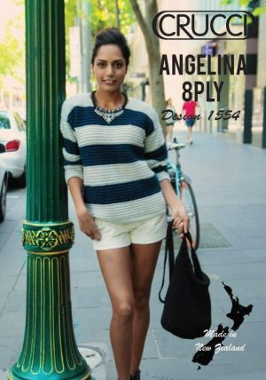 Crucci Pattern 1554 Angelina Basic stripe jumper