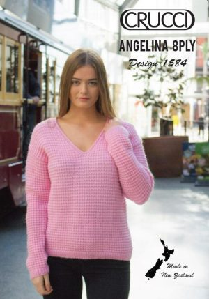 Crucci Pattern 1584 V Neck Sweater