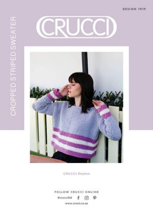 CRUCCI Cropped Striped Sweater Pattern 1919