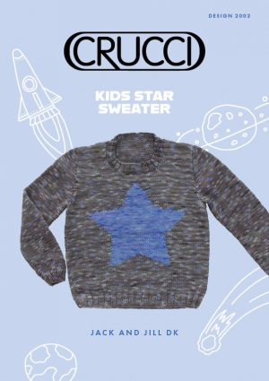 CRUCCI Knitting Pattern 2002 Kids Star Sweater