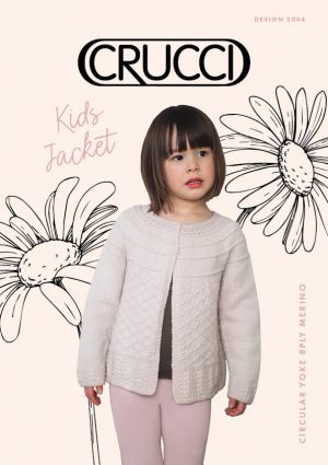 Knitting Pattern 2004 Kids Circular Yoke Jacket