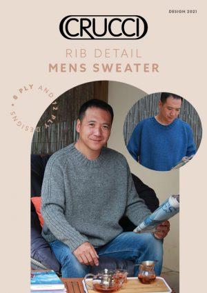 Rib Detail Men's Sweater
